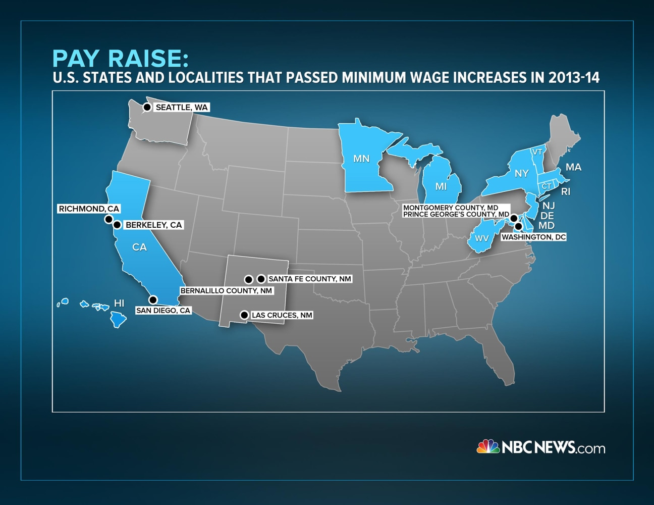 Whos Getting A Raise Minimum Wage Hikes Gain Steam In States - Minimum wage us map