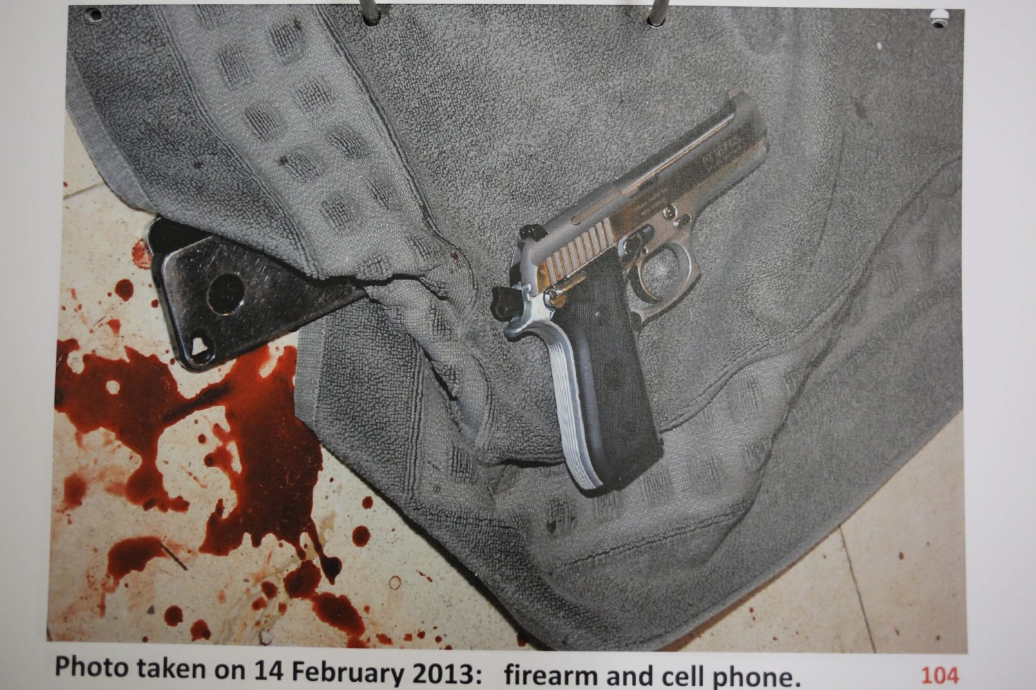 Evidence Photo Shows Blood Splattered Pistorius Scene N202316 on oscar grant trial verdict