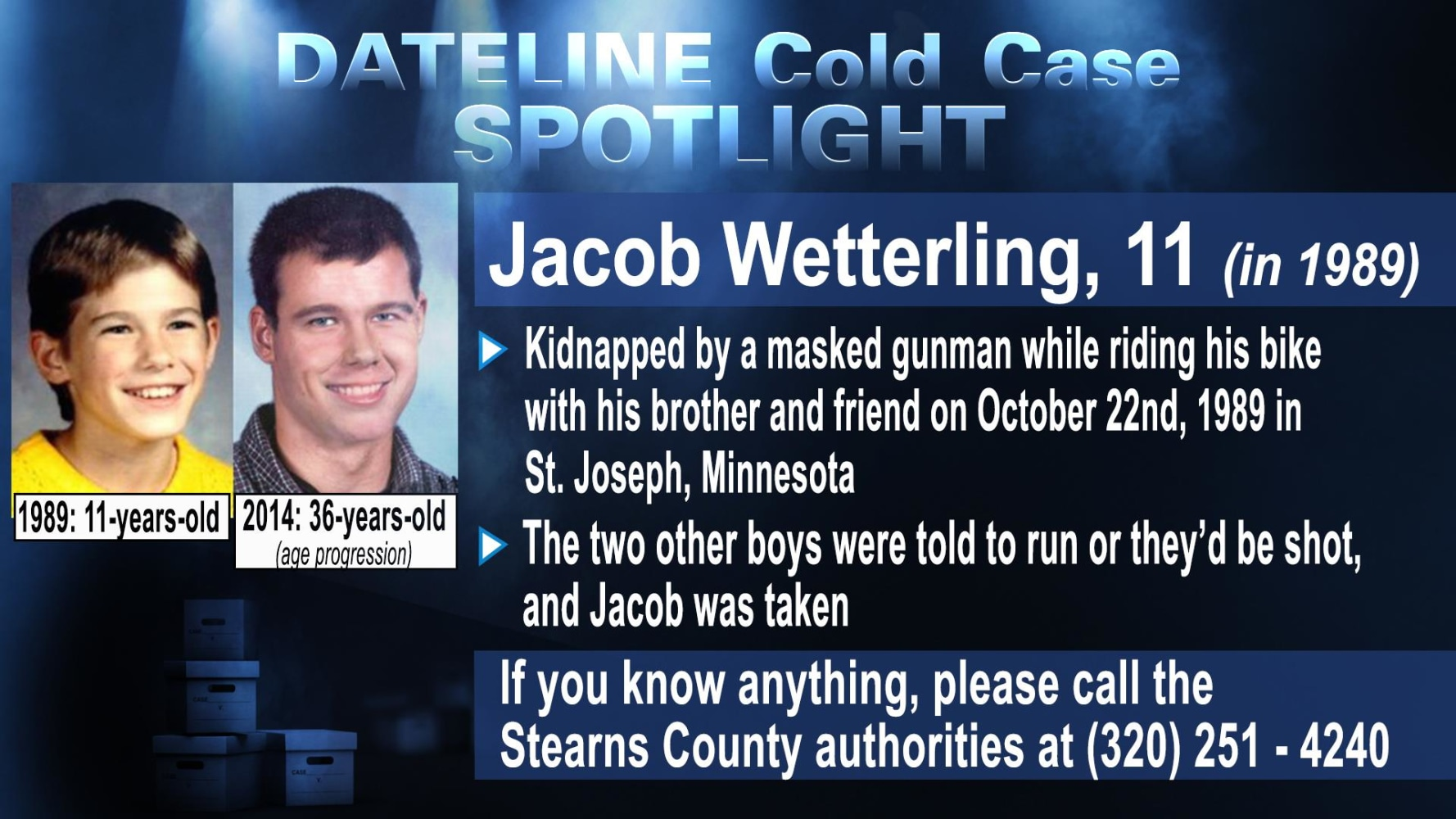 IMAGE: Jacon Wetterling Missing Poster  Make Missing Poster