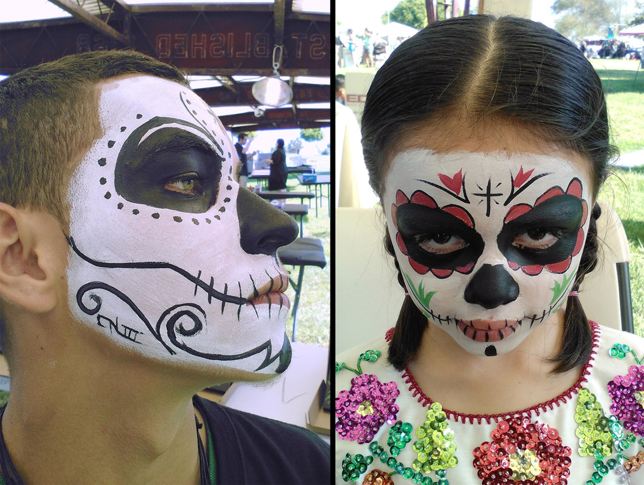 authors artists chefs share dia de los muertos celebrations image face painting by artist carlos nieto for dia de los muertos celebrations