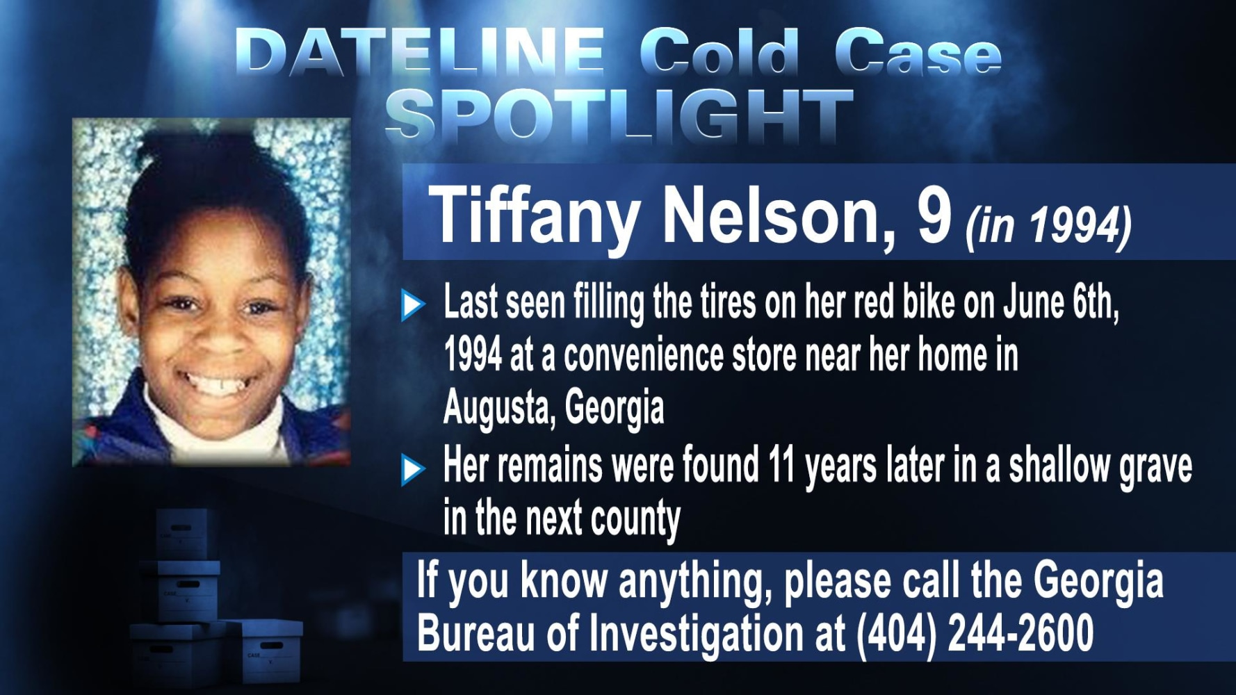 COLD CASE SPOTLIGHT: Tiffany Nelson - NBC News
