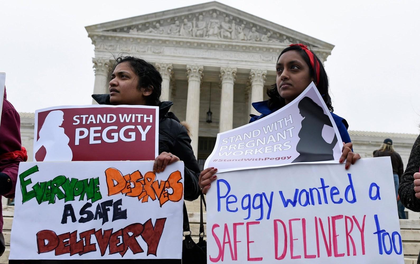 supreme court wrestles job protections for pregnant workers image vasu reddy harini srinivasan