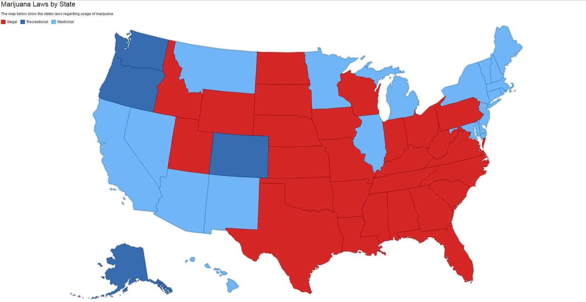 Mapping Out Americas Issues NBC News - Weed legalization us map