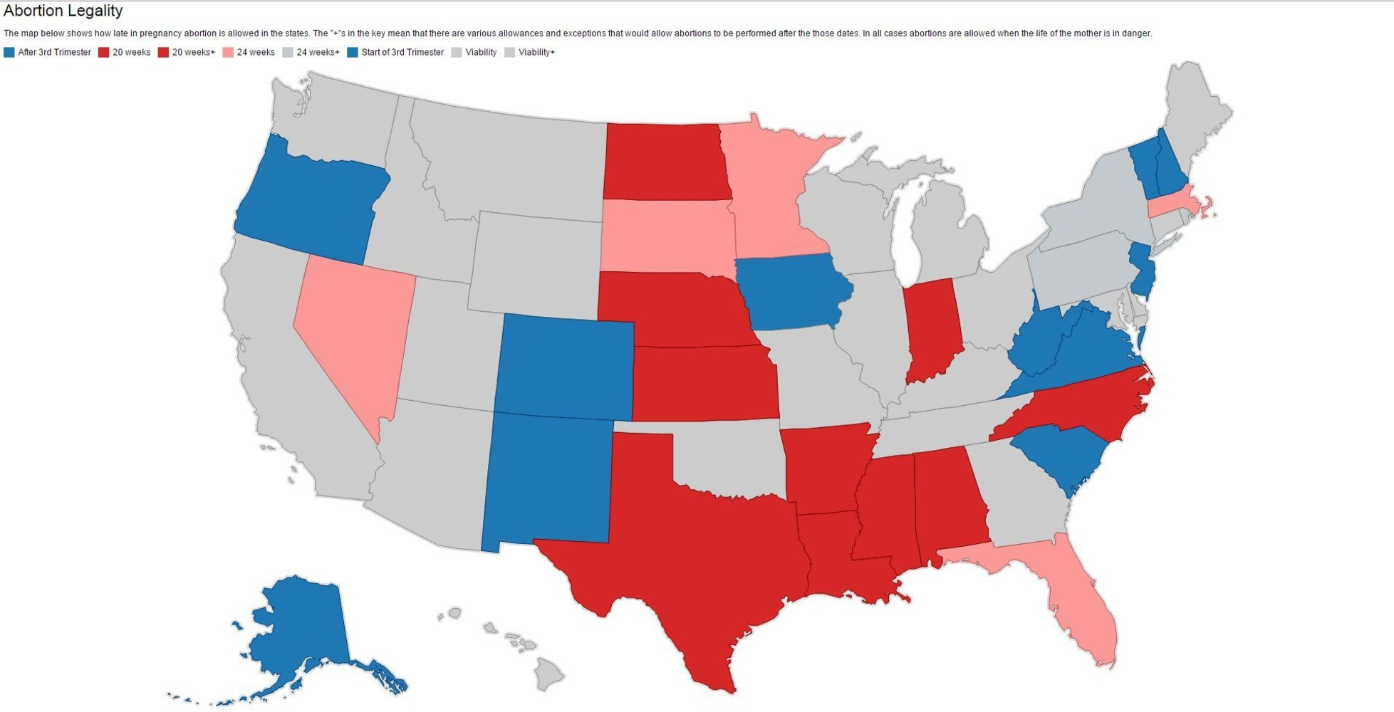 Supreme Court Rejects North Dakota Appeal On Abortion Restrictions - Us abortion map
