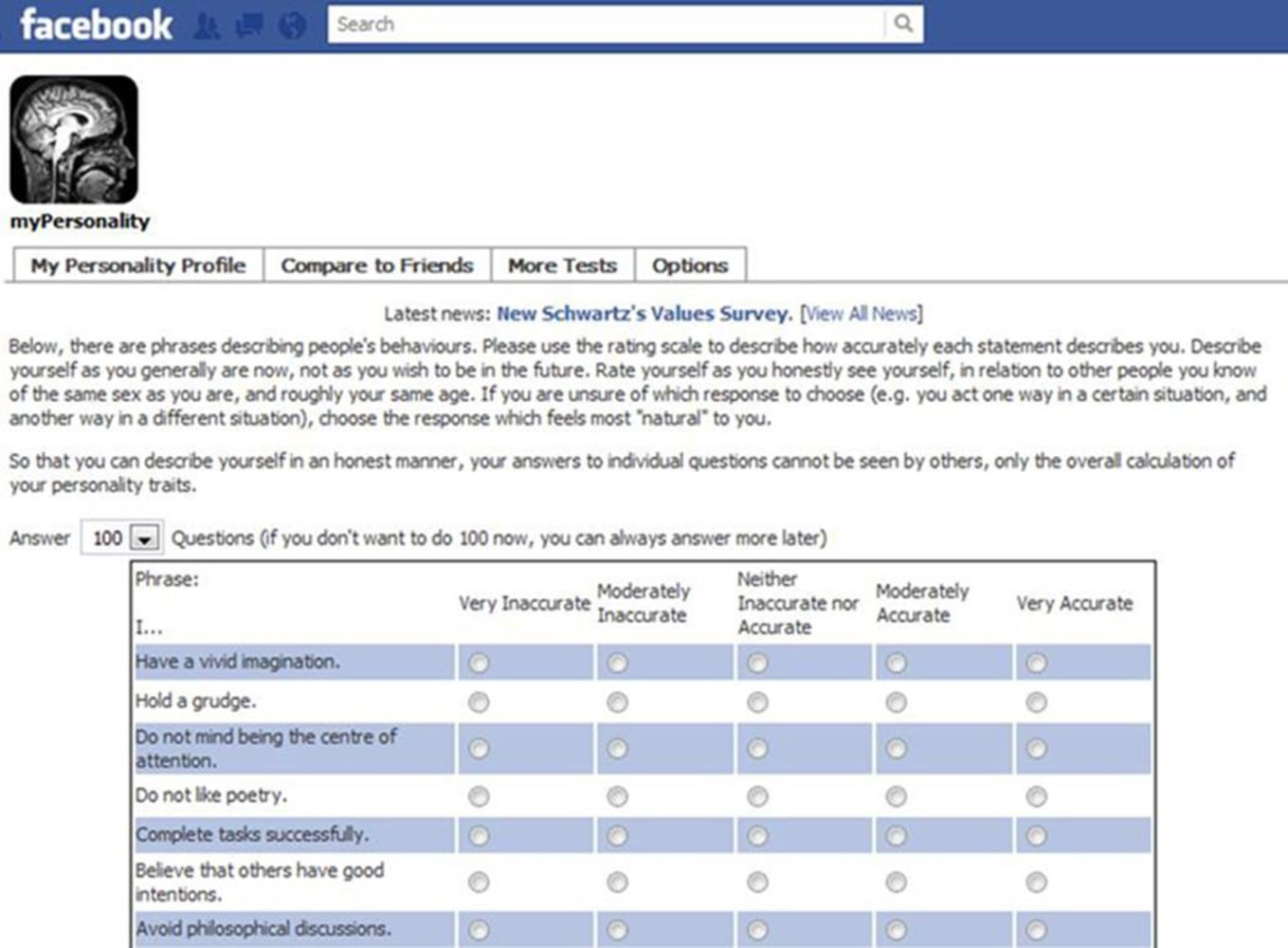 like this can facebook assess your personality nbc news image researchers used this app on facebook to see whether a computer could figure out