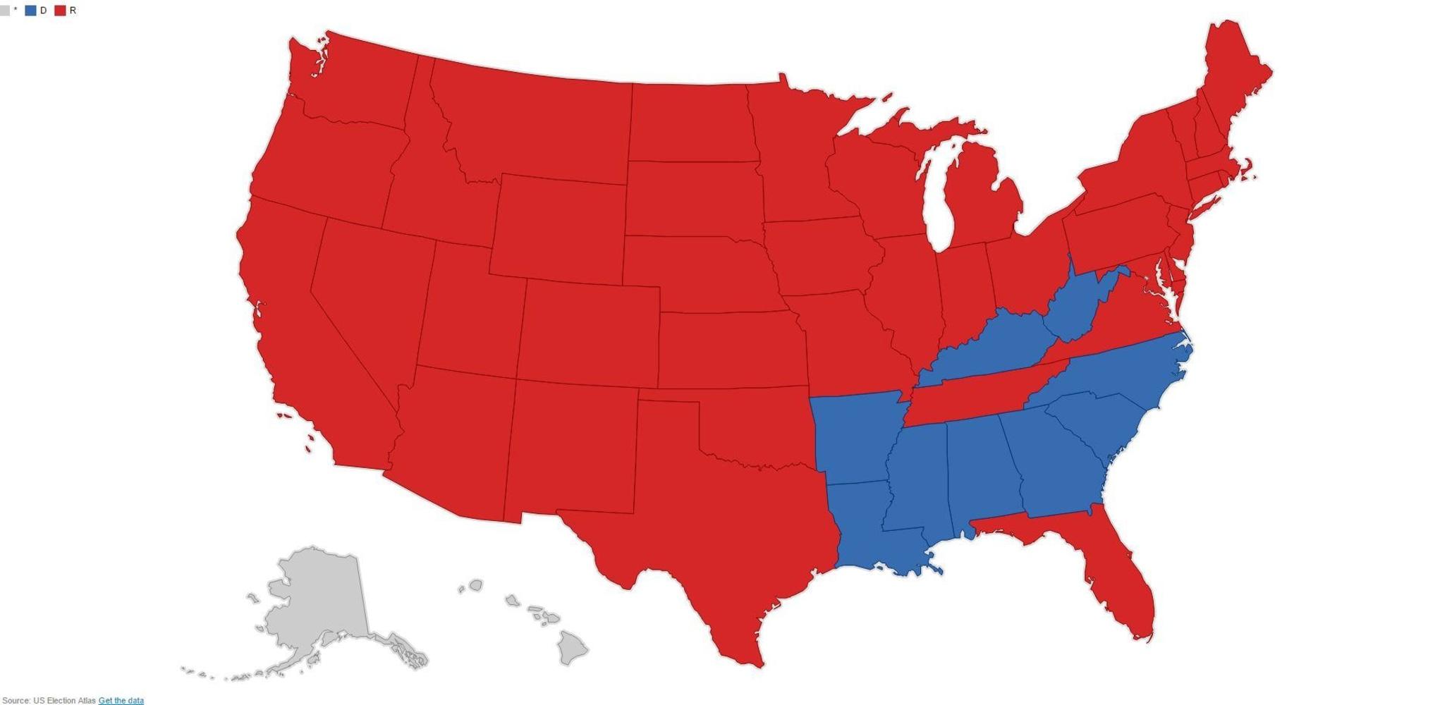 1952 Presidential Electoral Map