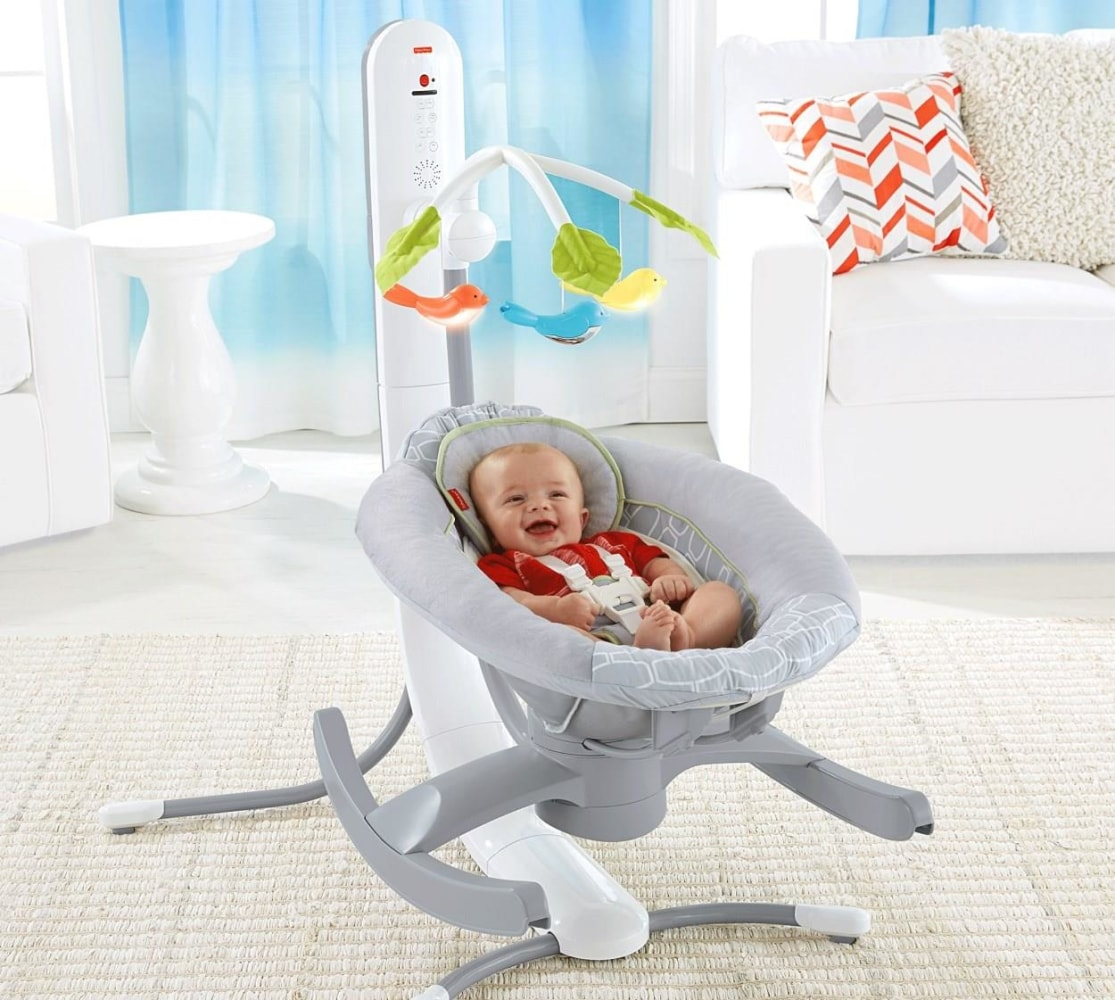 Rocking Your Baby To Sleep There S An App And Cradle