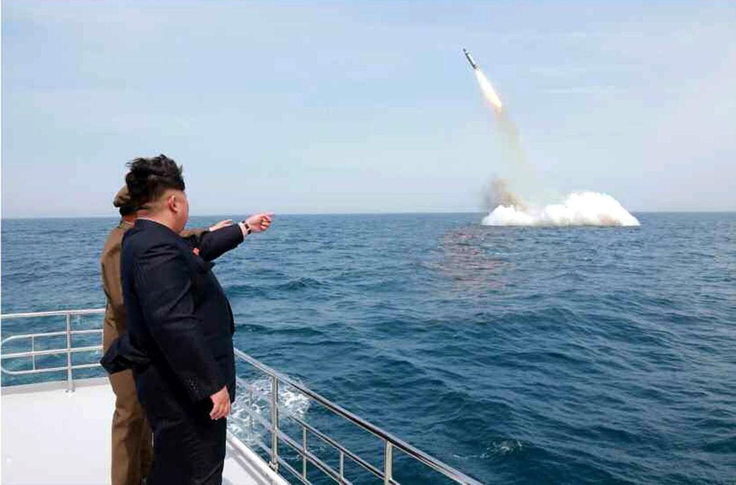 Image result for photo of n korea doing ballistic missile tests