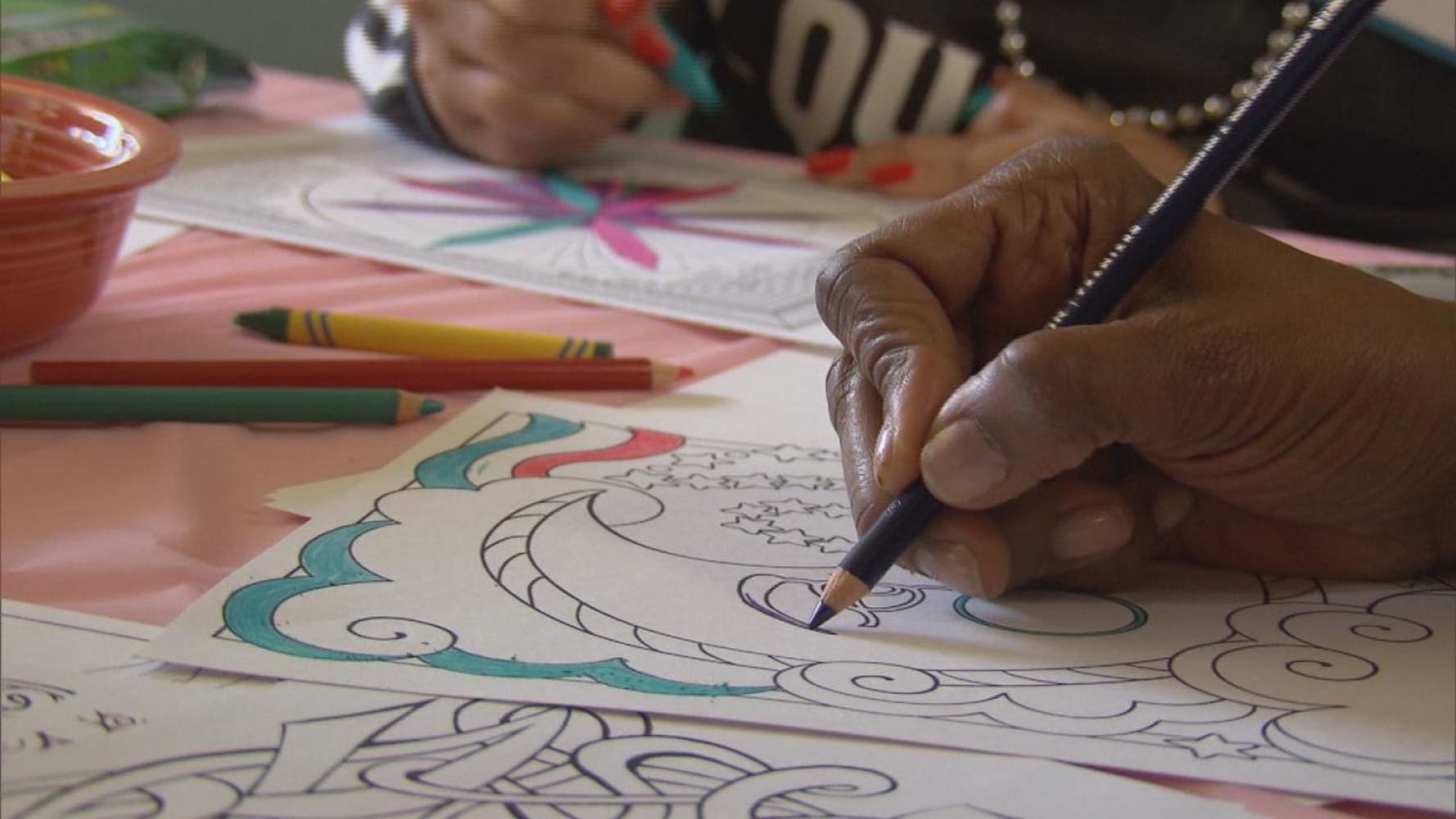 How much is the coloring book for adults - A Woman Colors In An Illustration With A Colored Pencil Adult Coloring Has Soared In Popularity