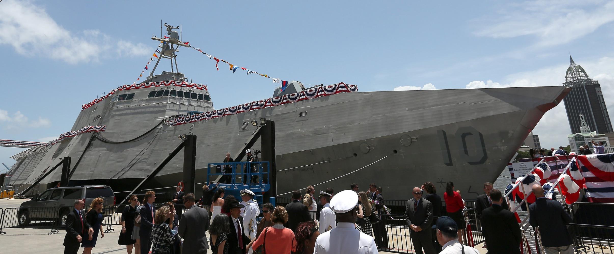Gabrielle Giffords Courage Navy Ship Christened For Former Congresswoman Gabrielle