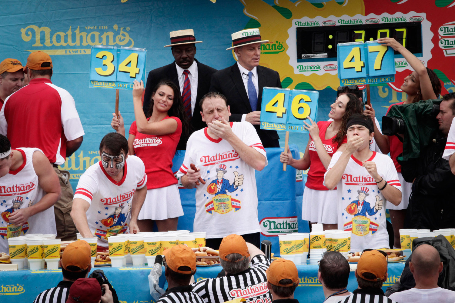 Coney Island Hot Dog Eating Contest Video