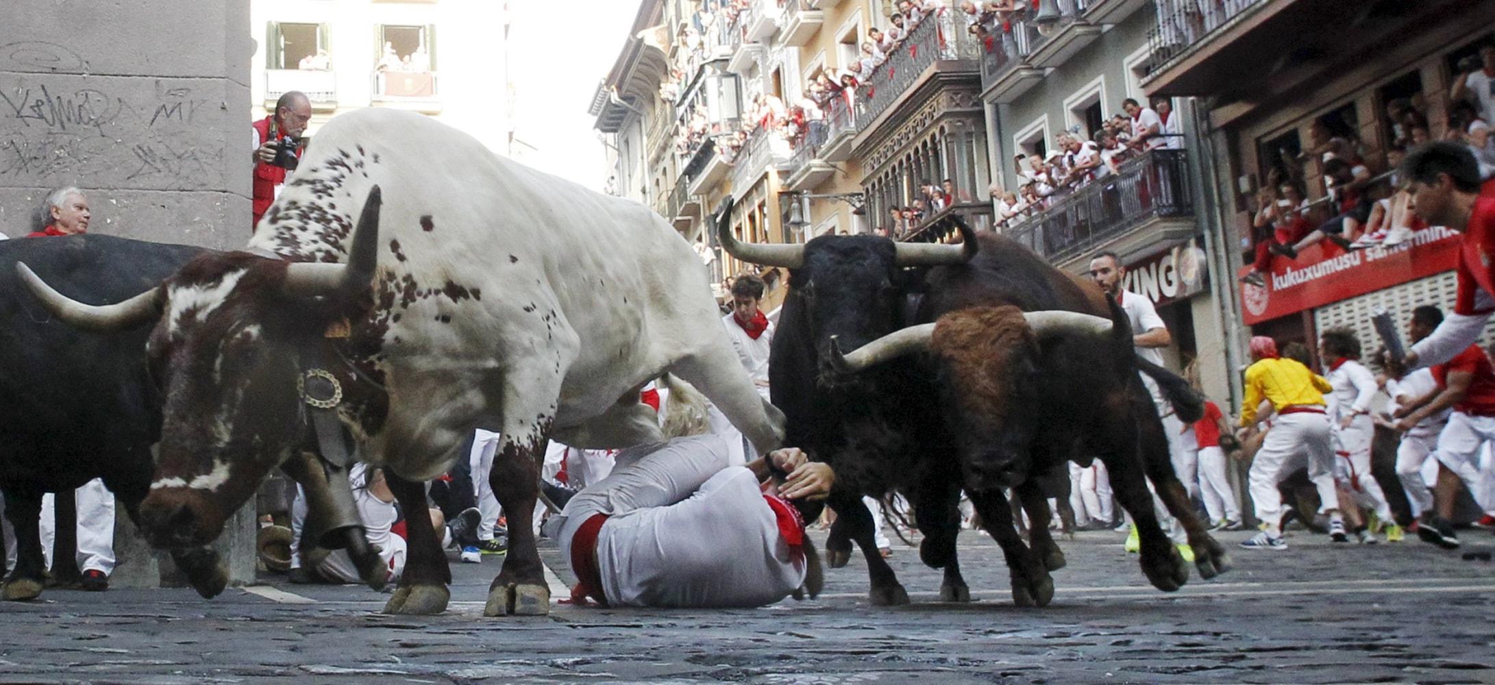 Pamplona's San Fermin Bull Running Festival: Two Americans Gored ...