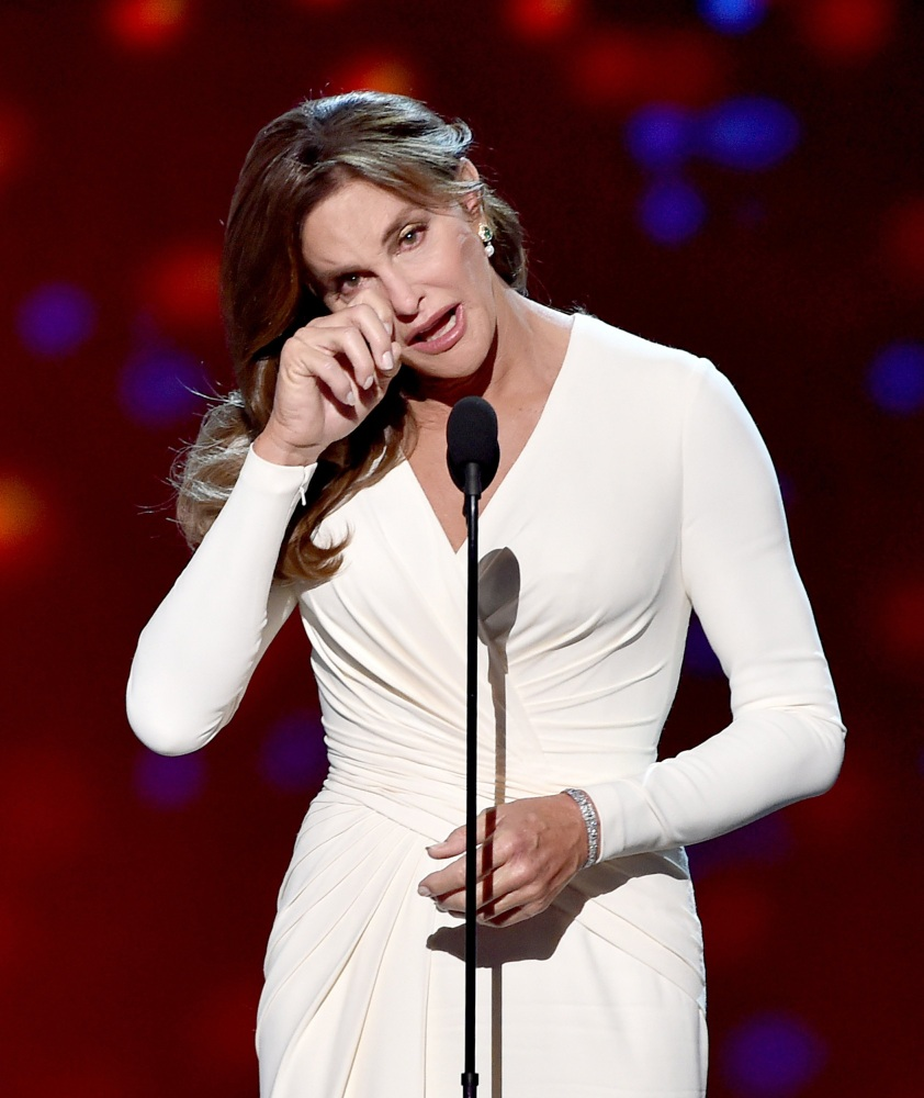 Caitlyn Jenner accepts the Arthur Ashe Courage Award onstage during ...