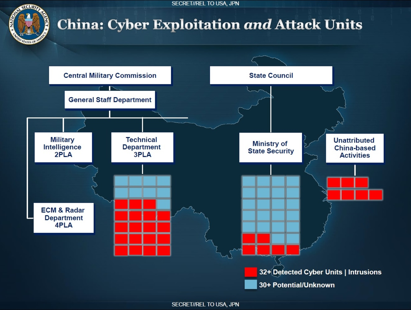 China Read Emails Of Top US Officials NBC News - Map of us chinese hacking victims