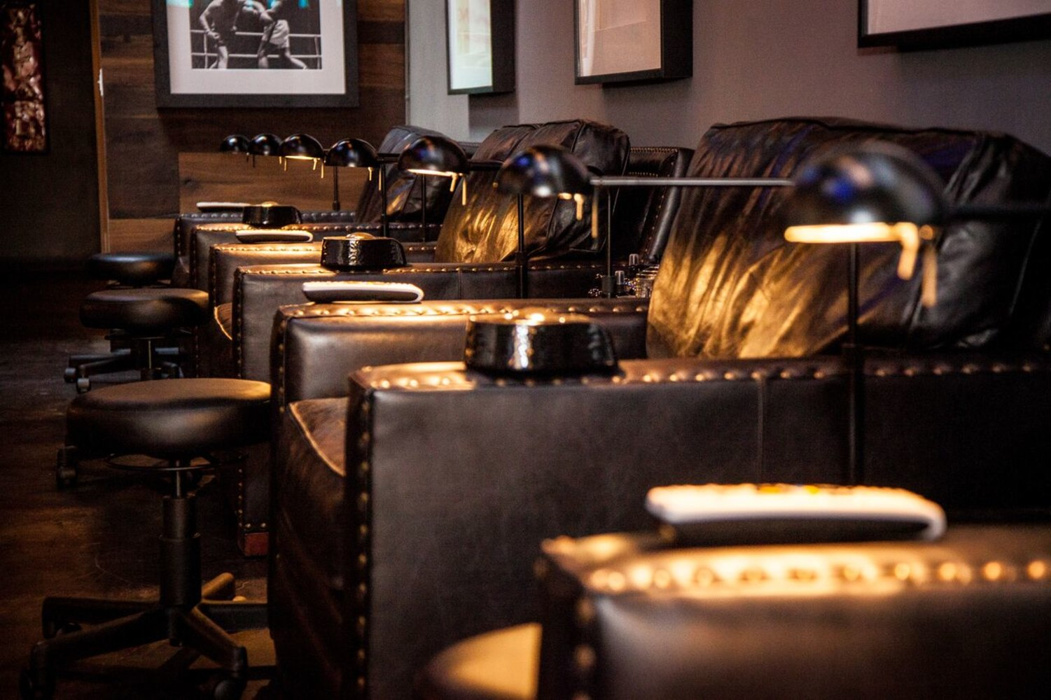 Man Cave Hair Salon : Manly pedi l a s first mani cave for men is ready to