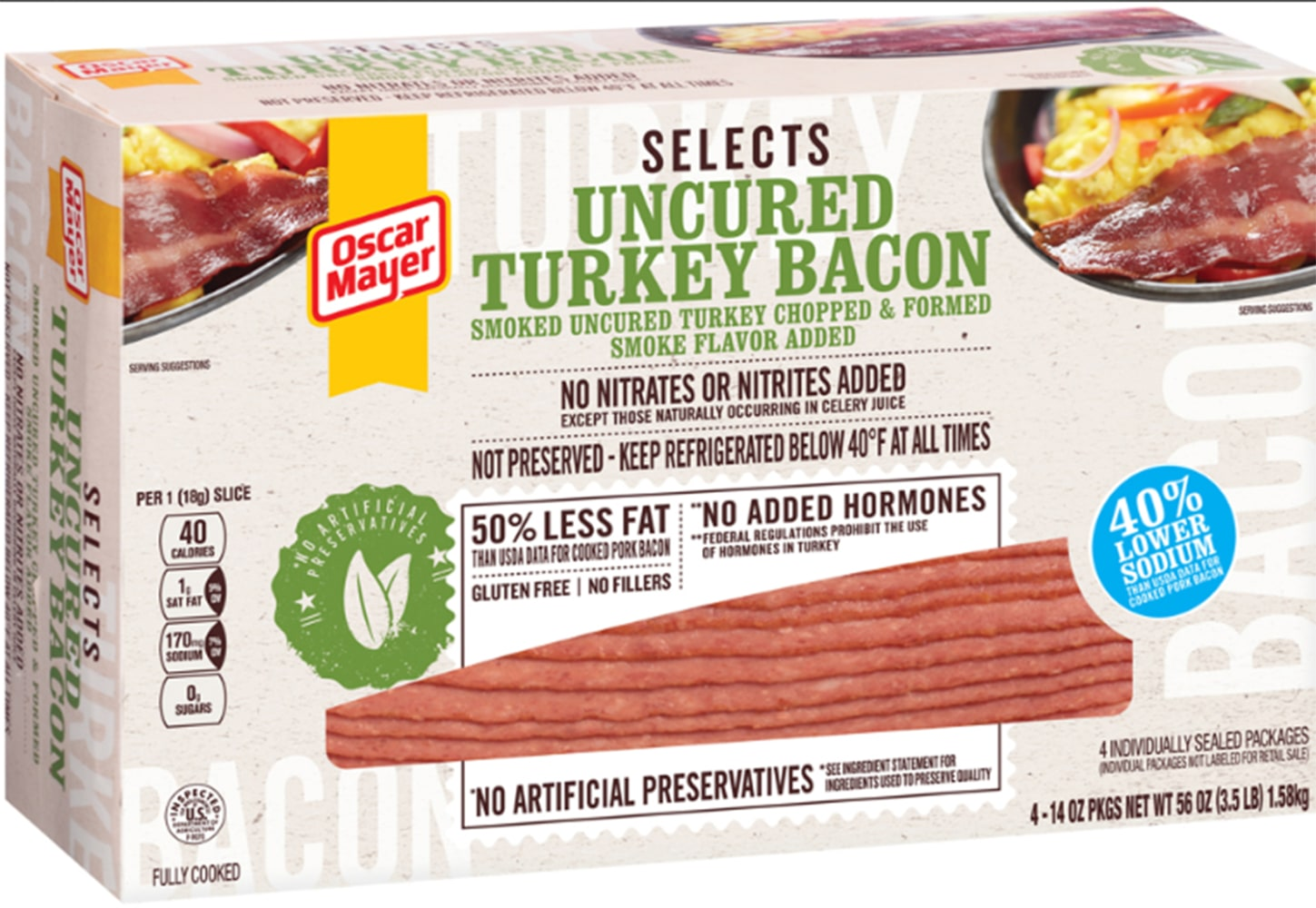 20896123 additionally Oscar Mayer Bacon Dogs n 3280211 also 211582 Oscar Mayer P3 Flavors also Top Grocery Store Bacon Brands Reviewed likewise Ok. on oscar mayer bacon label