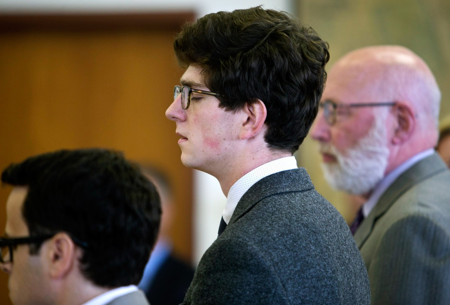 nh sex  Image: Owen Labrie closes his eyes as his verdict is read