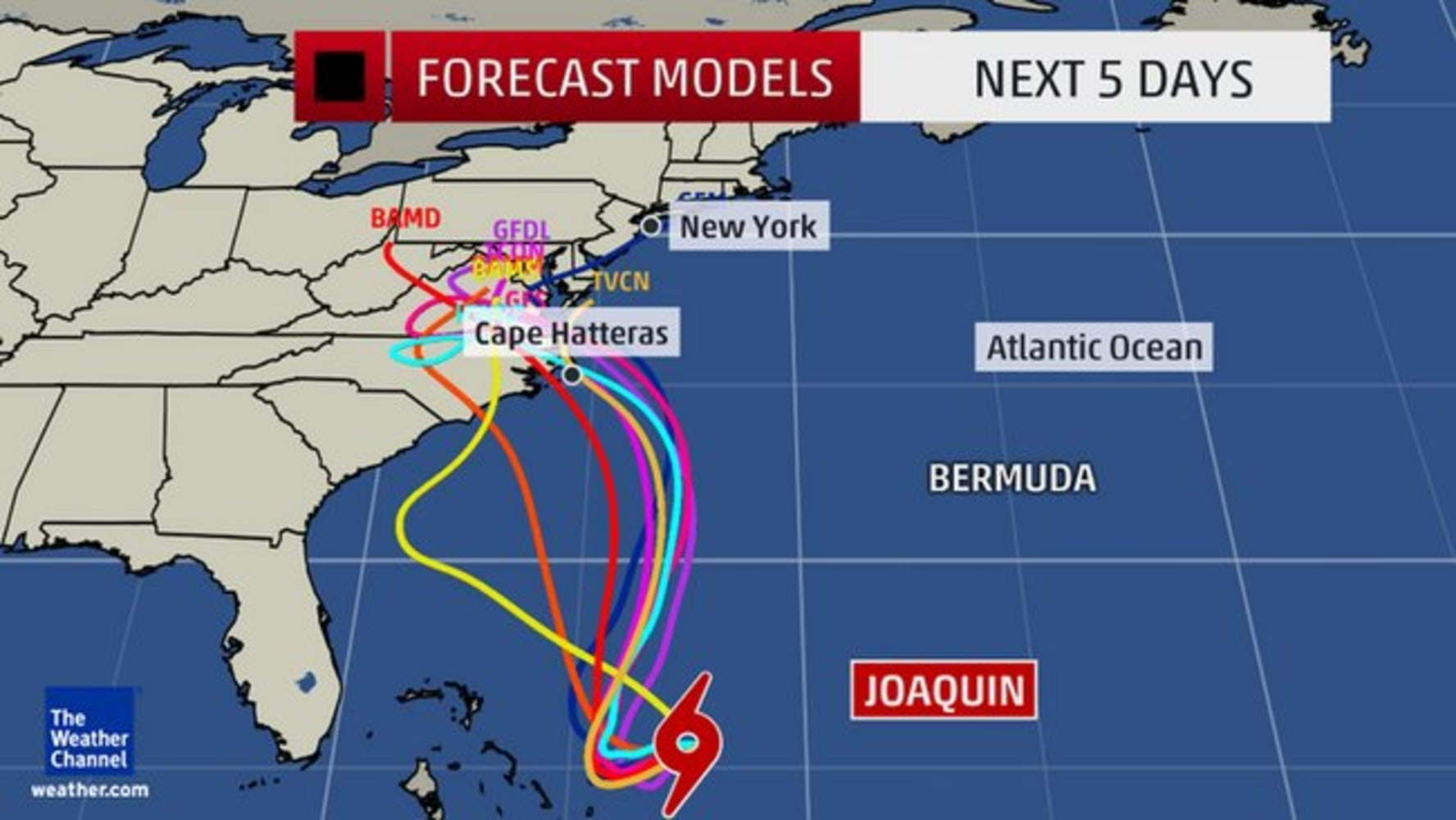 hurricane joaquin lurks as meteorologists disagree over