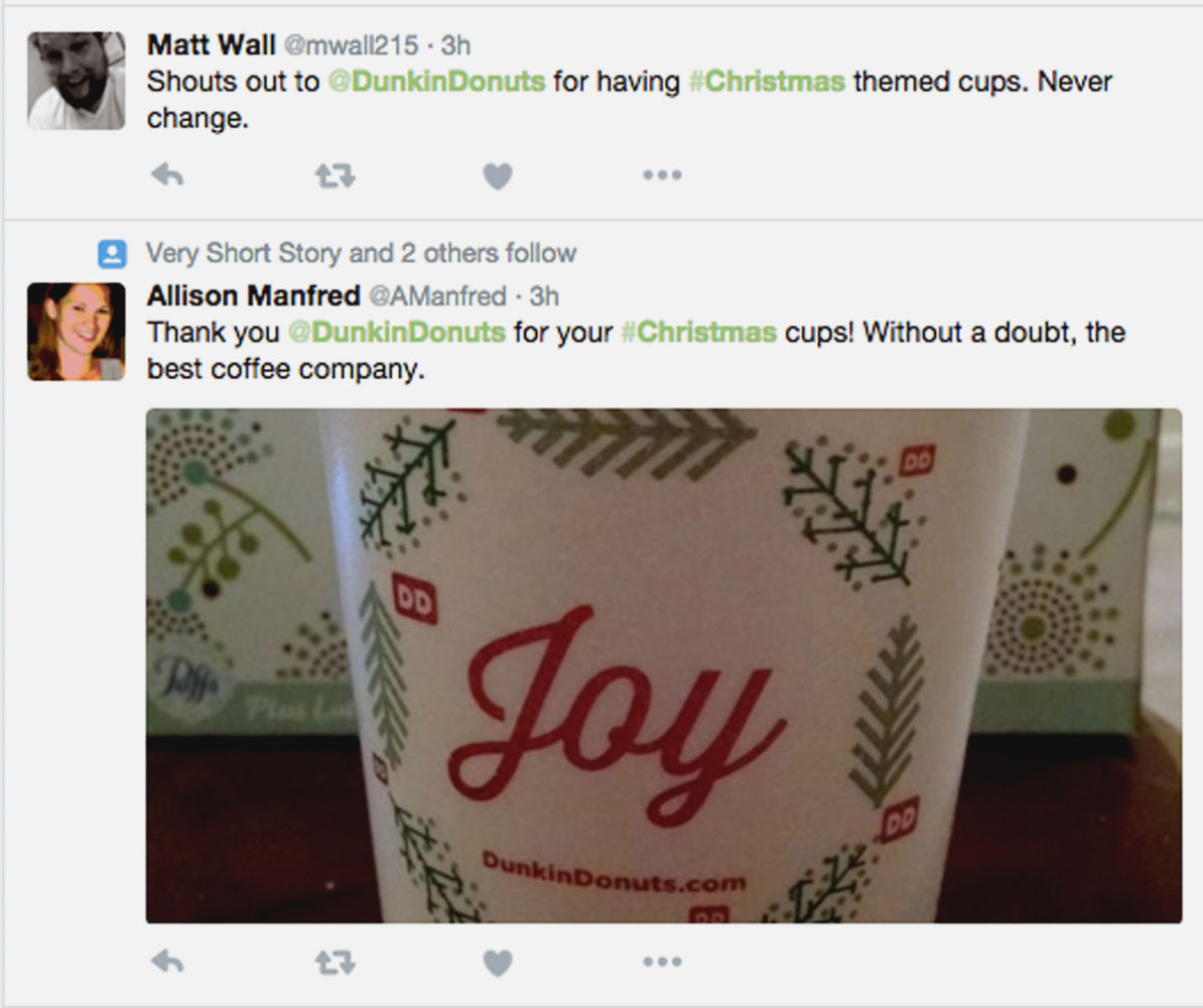 Dunkin Donuts Stirs Starbucks 'Brew-haha' With Festive Holiday Cup ...