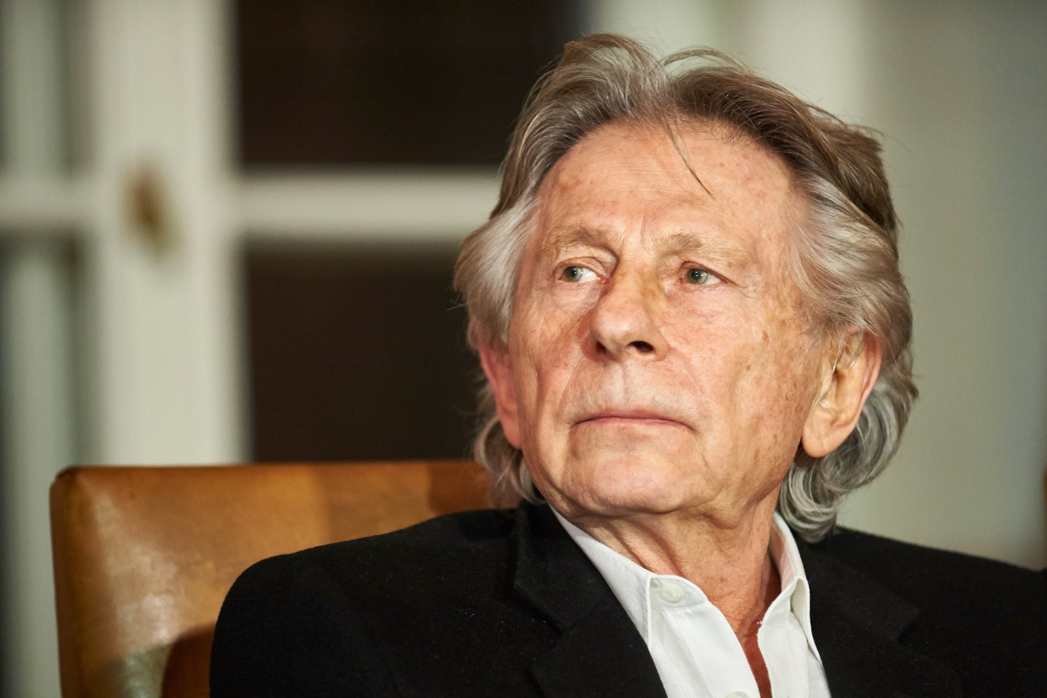 french polish film director roman polanski at a press conference on