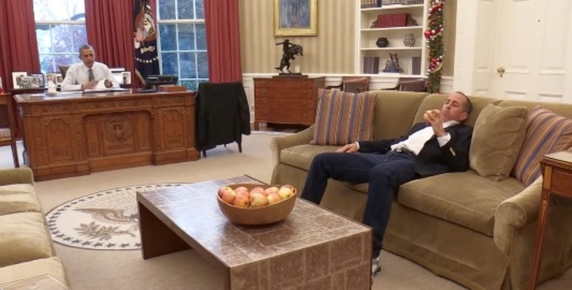 Drives with seinfeld for a coffee at the white house nbc news