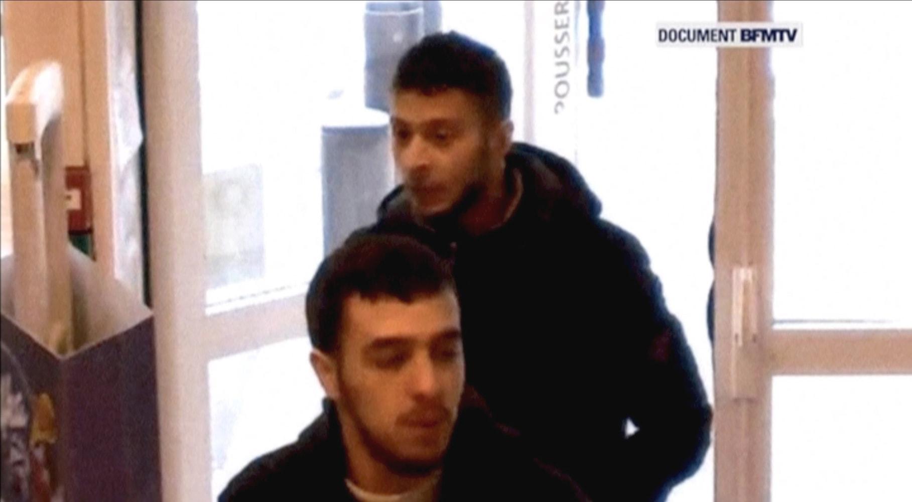 CCTV of 'Europe's most wanted' Salah Abdeslam following Paris attacks