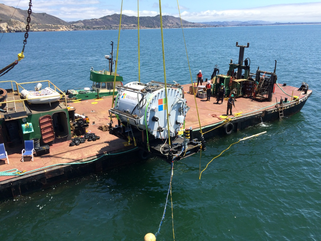 Microsoft's underwater datacenter: Project Natick tested successfully