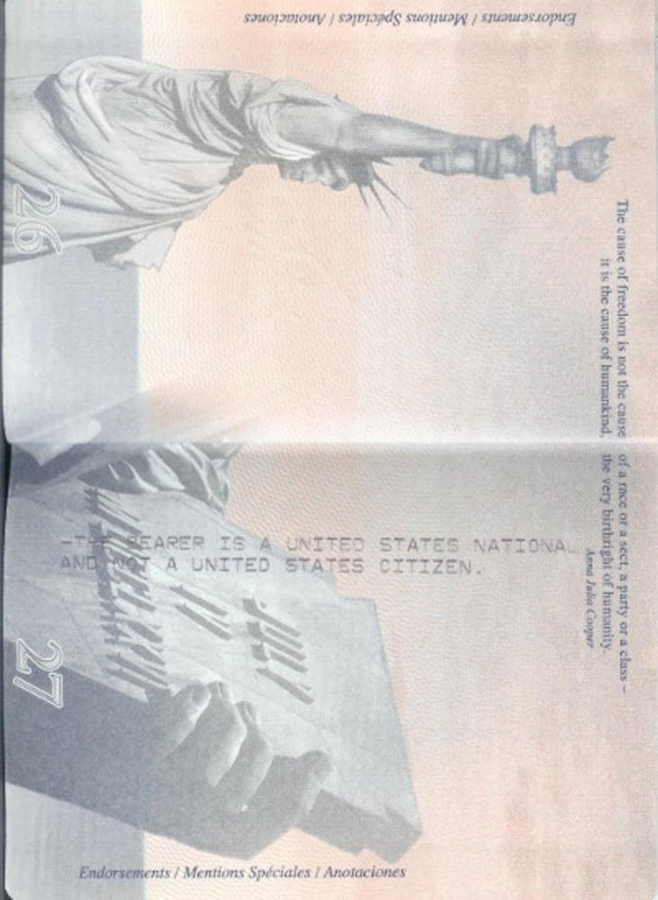 american passport last page - photo #18