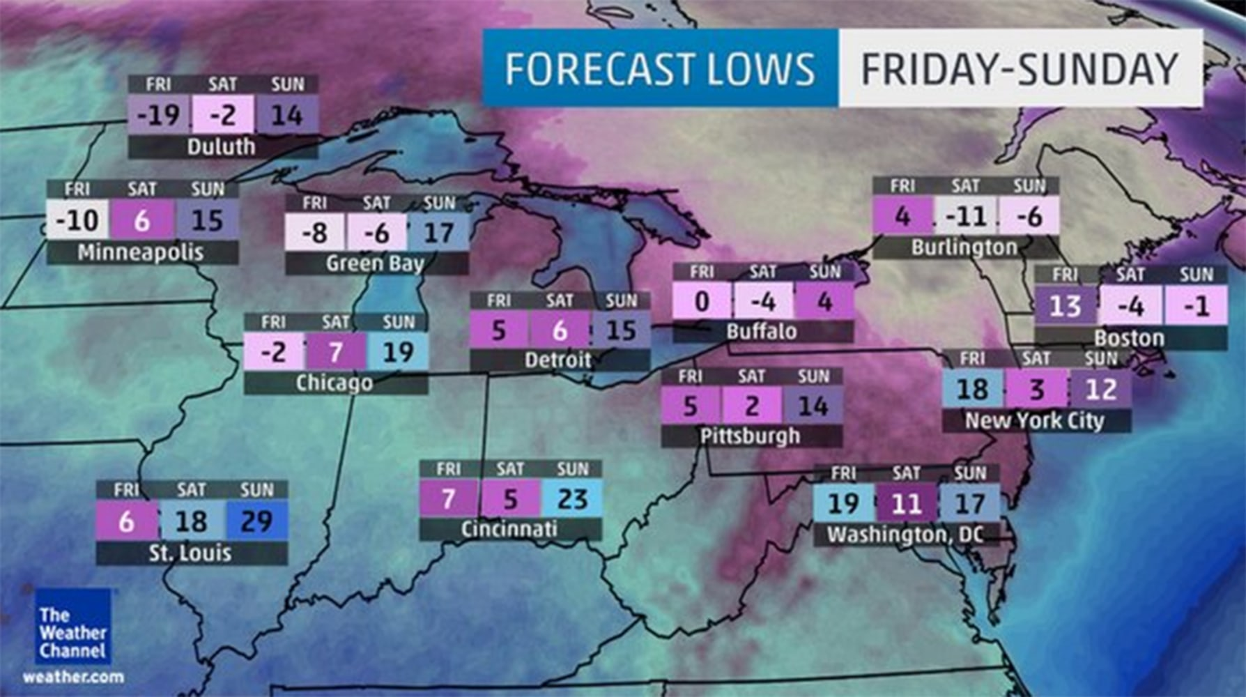 Weather Channel Forecast : Polar vortex to bring coldest air for more than a decade