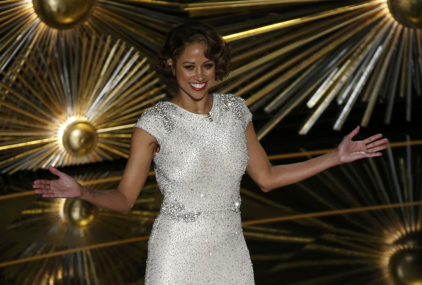 Actress stacey dash during her appearance sunday at the academy awards
