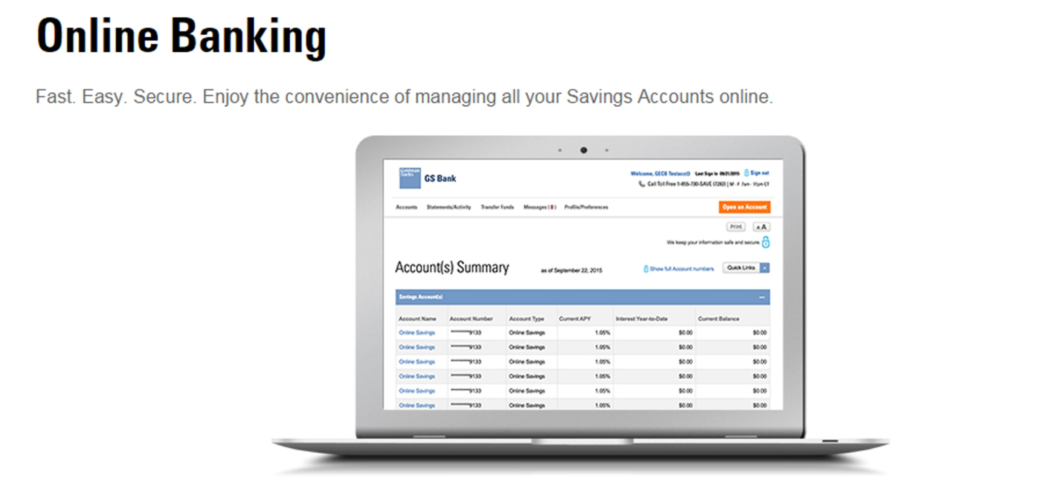 Goldman sachs launched gs bank in april 2016 offering online savings