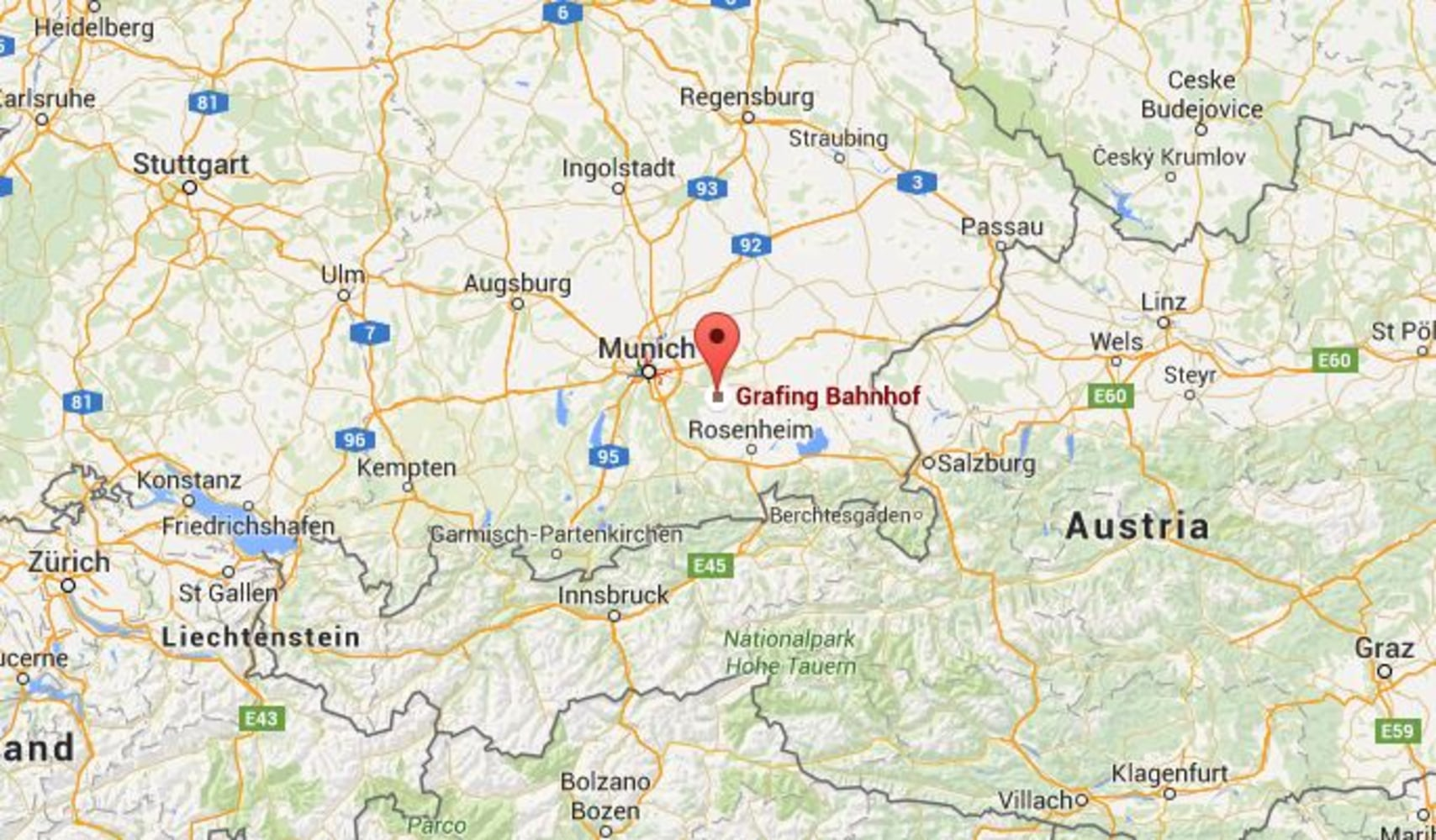 German Train Station Attack Deadly Stabbing Spree Near Munich - Germany map google