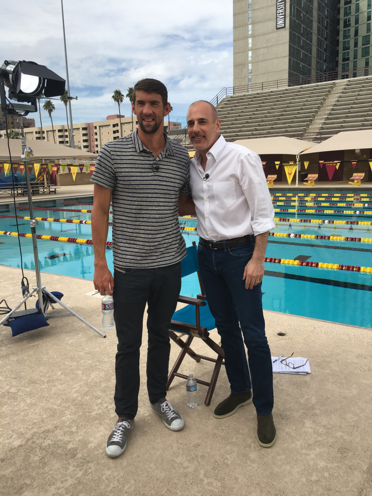 Matt Lauer Rio >> On Assignment Finally Phelps Nbc News