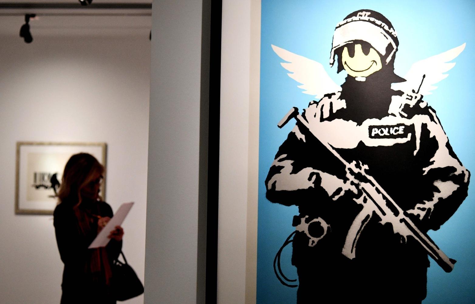 'Unprecedented' Banksy Exhibition Opens in Rome's Palazzo ...