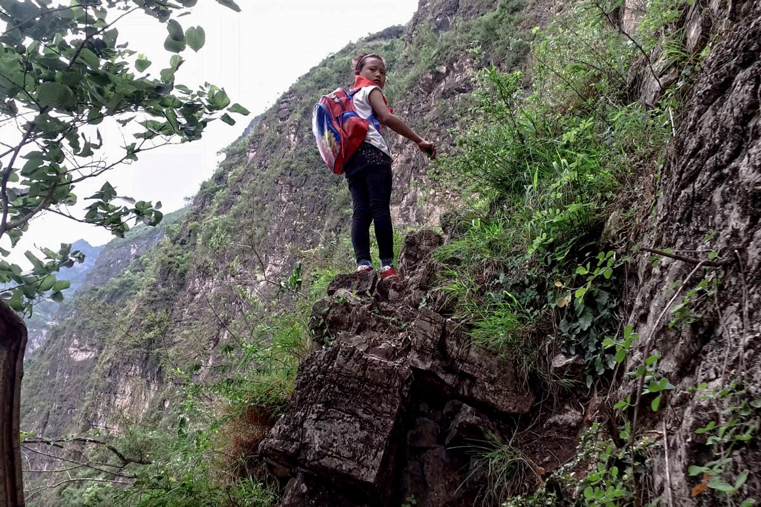 Chinese Students Climb 2,500-Foot Bamboo Ladder to Get Home From ... for Student Climbing Ladder  110zmd