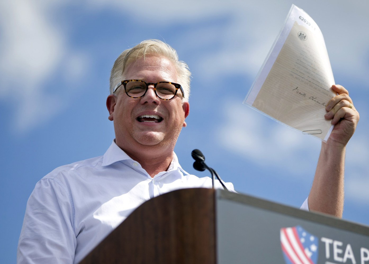 Glenn beck speaks at a tea party rally in september on the west lawn