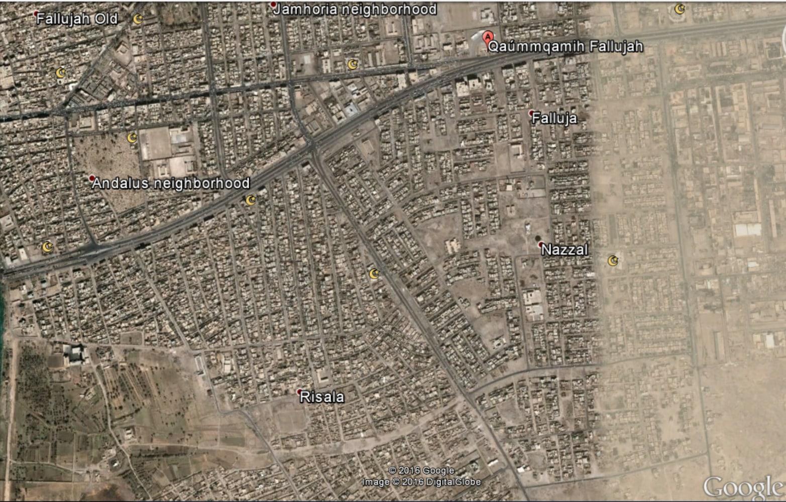 map of iraq fallujah iraqi forces enter central fallujah liberate key areas