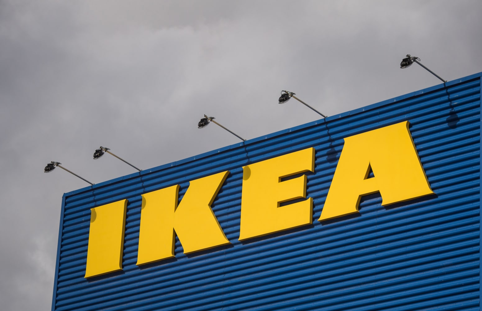 Image The Logo Of Ikea Is Pictured Outside Europe S Biggest Ikea Store In Kungens Kurva