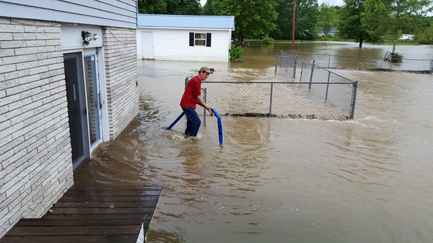 Flood waters drenched a home Thursday in Cottle, West Virginia. Monica ...