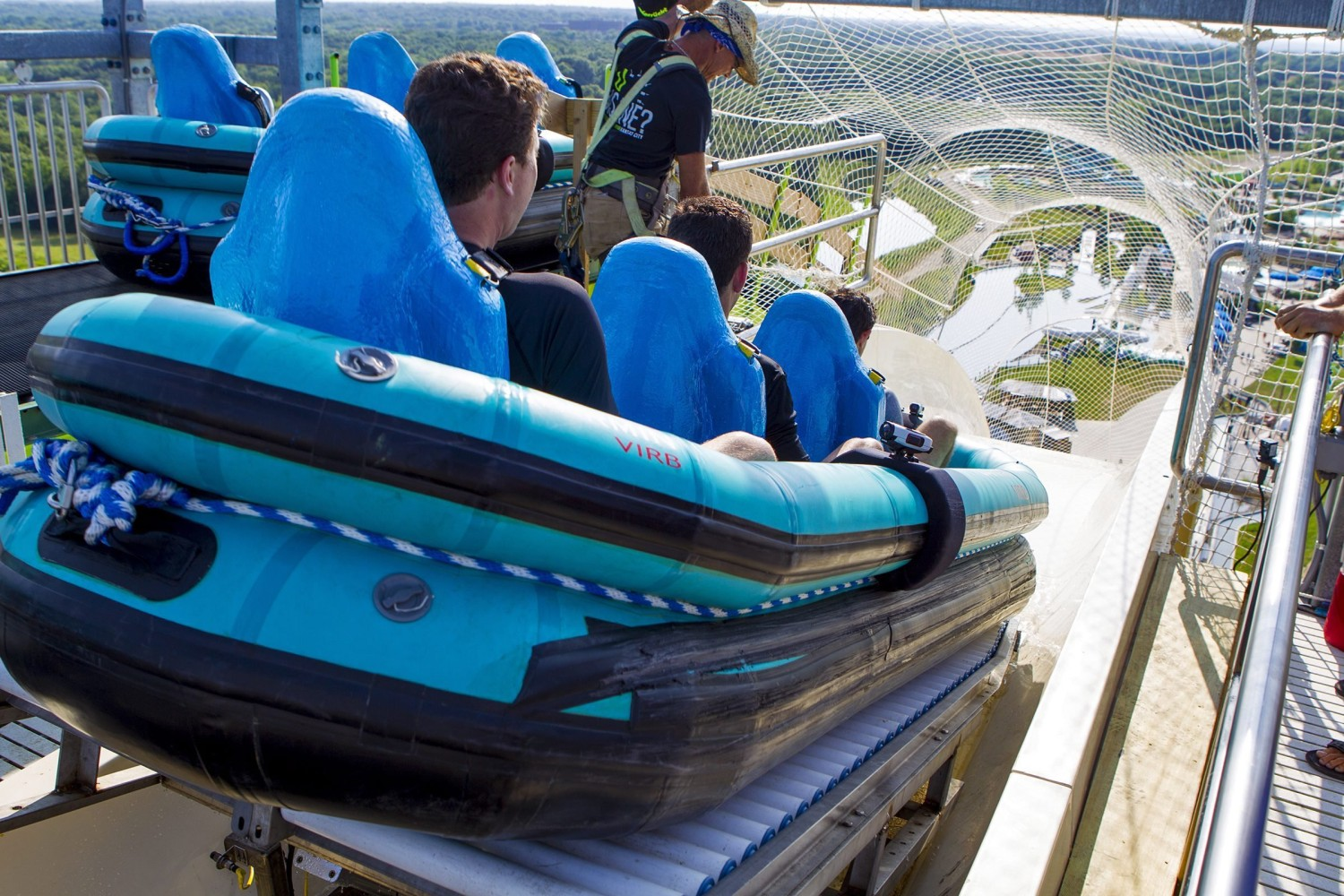 AP first-person account of riding world's tallest waterslide