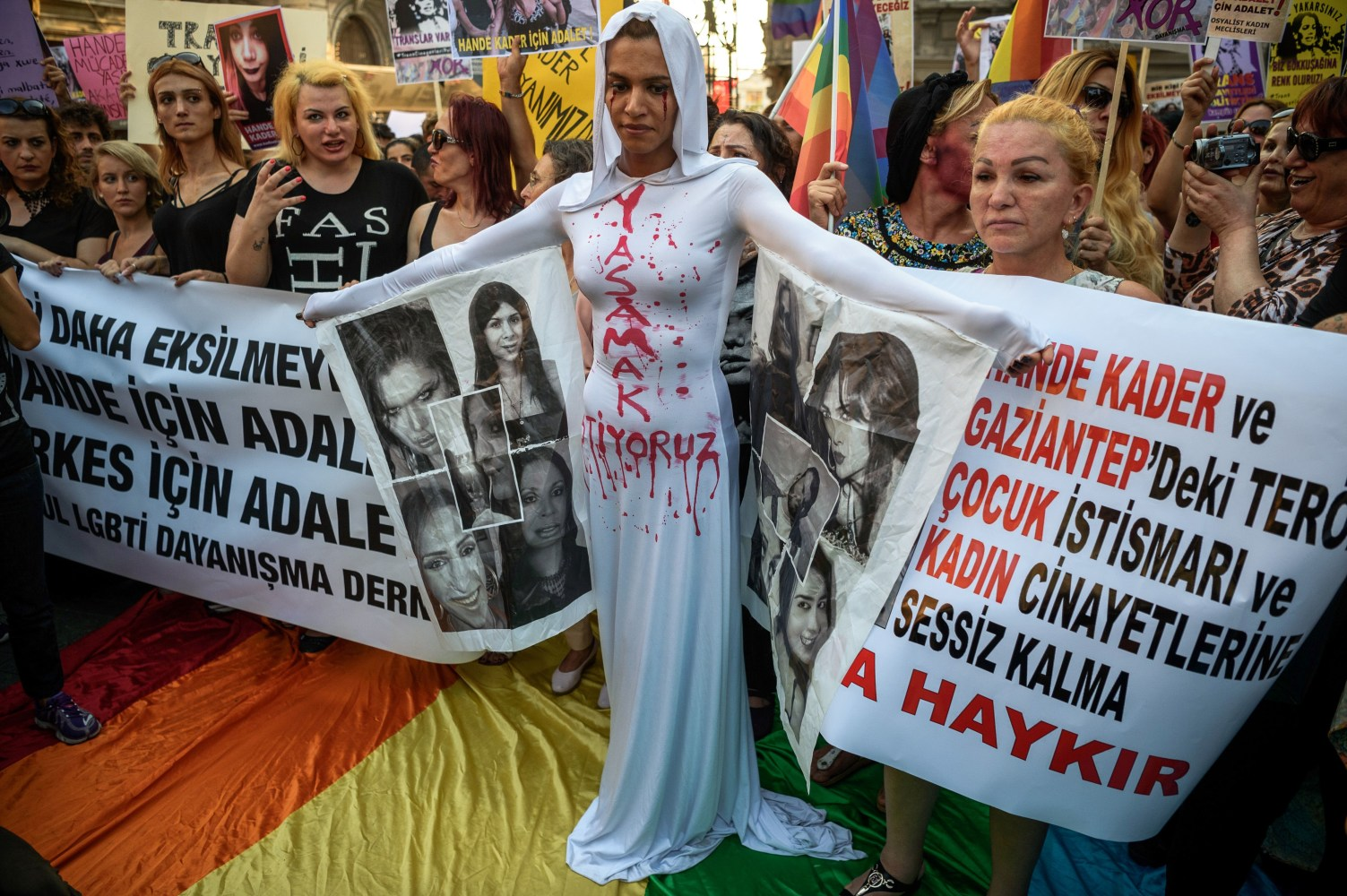 Hundreds protest murder of LGBT activist in Istanbul