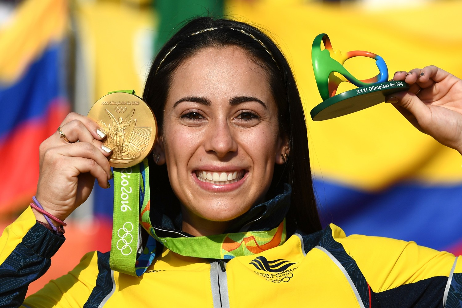Colombian cycling team women names - Mariana Pajon Of Colombia Gold Medal Cycling