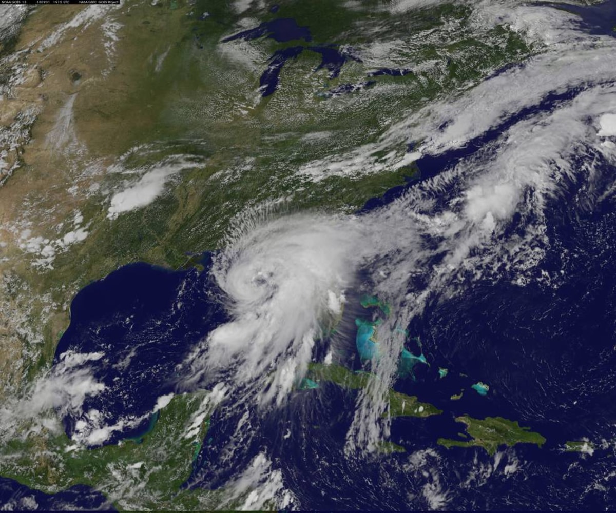 Hurricane Hermine in a satellite image at 3:15 p.m. ET Thursday. NASA ...