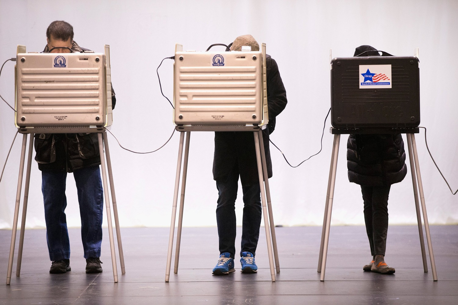 Image Voters Go To The Polls In Illinois Presidential Primary