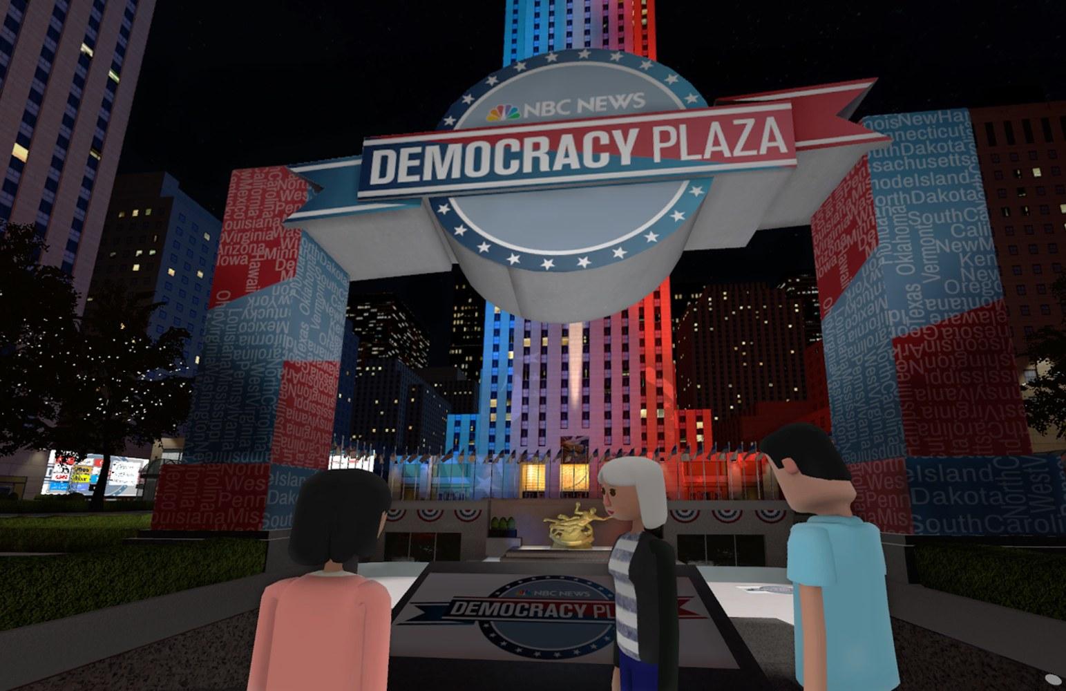 Virtual Democracy Plaza Join Chuck Todd Mr Robot Writer In Vr Nbc News