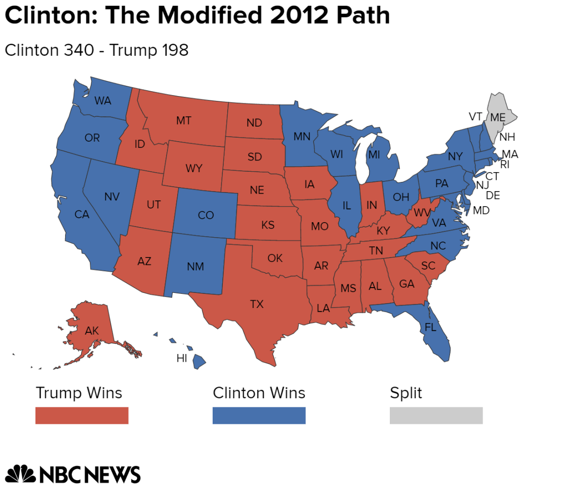 Electoral College Map Potential Paths To Victory For Clinton And - Florida map by race