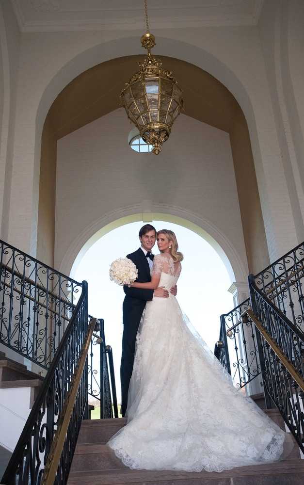 their wedding at Trump National Golf Club in Bedminster, New Jersey ...