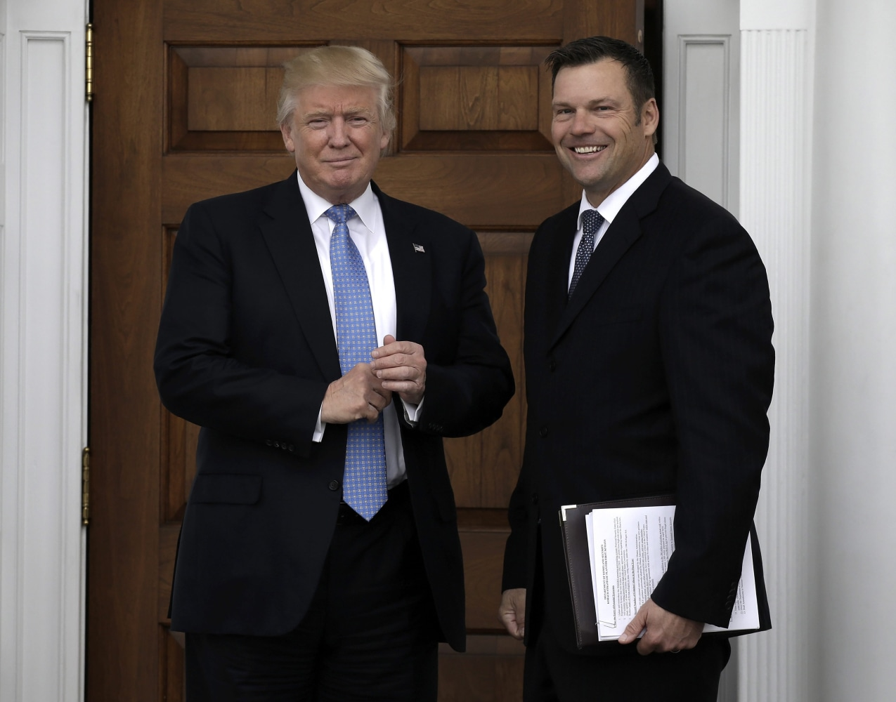 Image result for photo of trump and Kris Kobach,