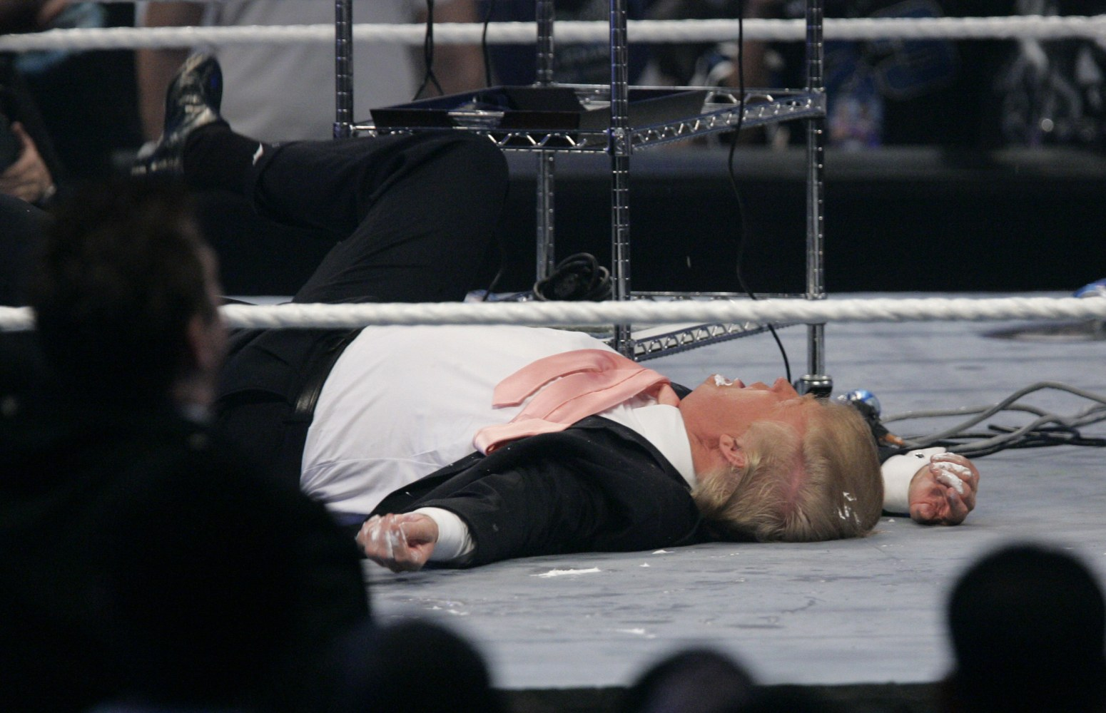 Image result for trump tackled in wrestling