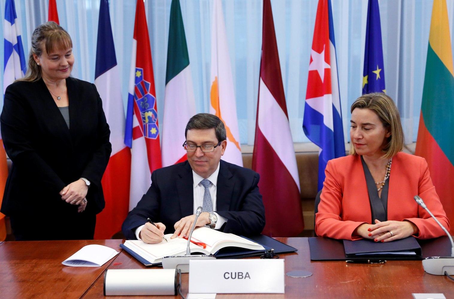EU, Cuba sign cooperation pact, vow Trump will not hurt ties